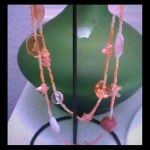 Beautiful acrylic beaded necklace